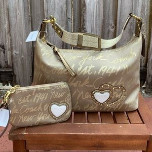NEW 2-pc COACH Limited Edition Gold Lurex …